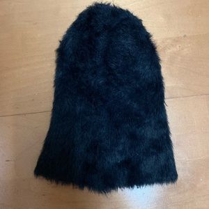 Fuzzy Black Soft Hat